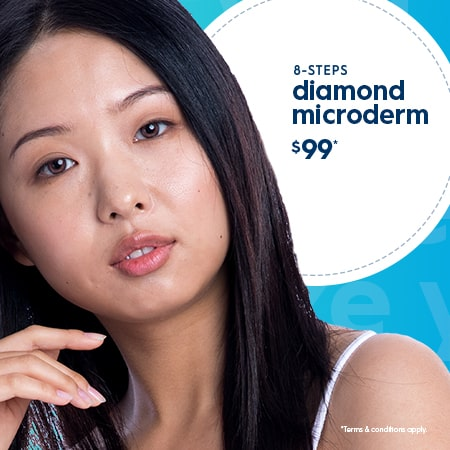 8 steps diamond microdermabrasion from the experts in blue!