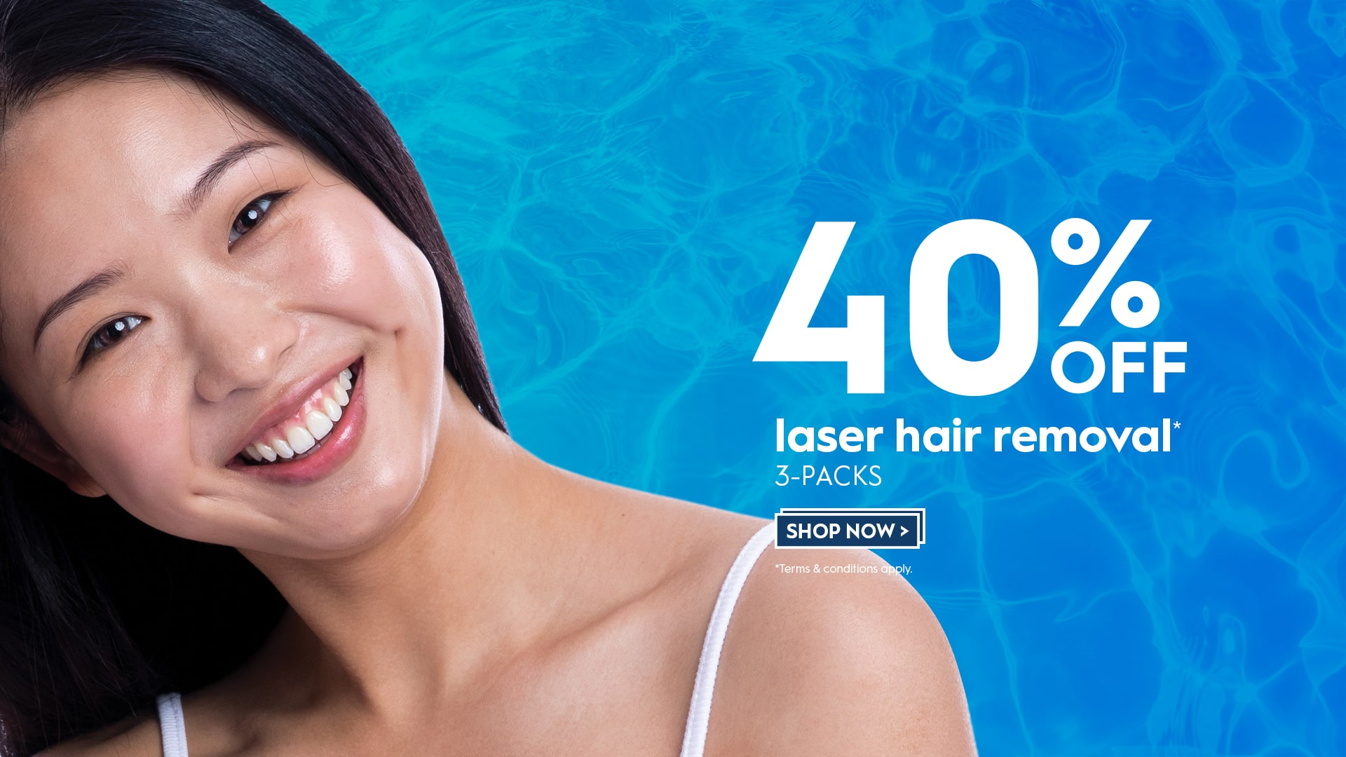 40% off Laser Hair Removal 3 packs