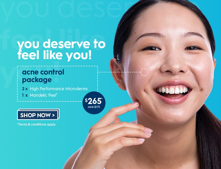 ACNE Control Package from the Skin Experts in Blue!