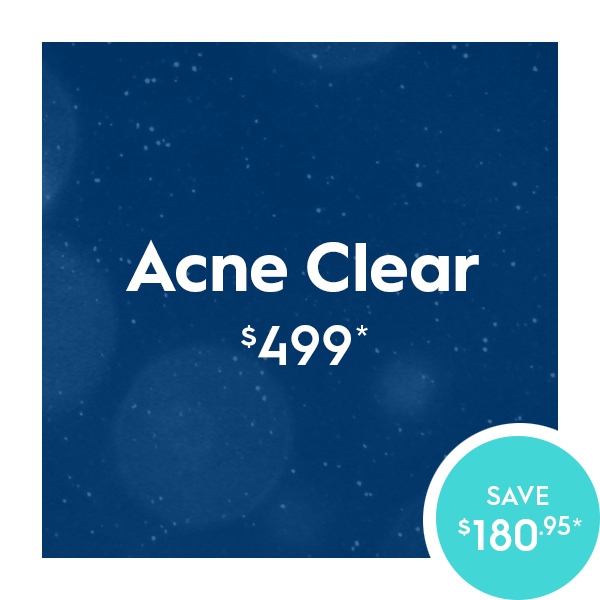 ACNE Control package from the experts in blue!